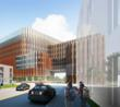 HOK design concept rendering: Located at the center of the regions emerging bio-sciences corridor, this new transit-oriented medical school development will anchor a lively, urban mixed-use district on campus and bring 1,200 stud